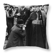 Cardinal Bourne's Hand Kissed Throw Pillow