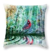 Cardinal - Featured In Comfortable Art-wildlife-and Nature Wildlife Groups Throw Pillow