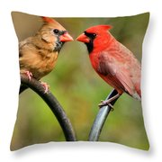 Cardinal Love Throw Pillow