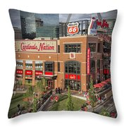 Cardinals Nation Ballpark Village Dsc06176 Throw Pillow