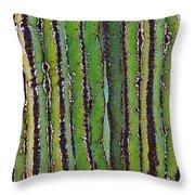 Cardon Cactus Texture. Throw Pillow