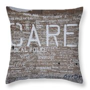 Care In Detroit  Throw Pillow
