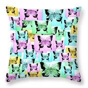Carefree Butterflies Throw Pillow