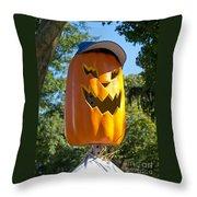 Carefree Scarecrow Throw Pillow