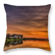 Carew Castle Sunset 1 Throw Pillow