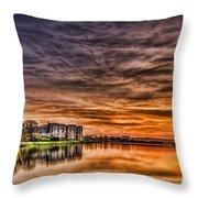 Carew Castle Sunset 2 Throw Pillow