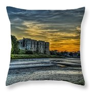 Carew Castle Sunset 3 Throw Pillow