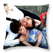 Carey Mulligan And Peter Sarsgaard In The Film An Education  By Lone Scherfig - 2009 Throw Pillow