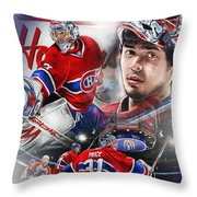 Carey Price Throw Pillow by Mike Oulton
