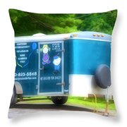 Cargo Trailer Throw Pillow