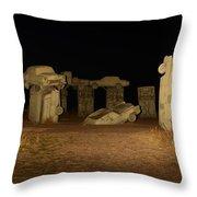 Carhenge At Night Throw Pillow