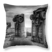 Carhenge Automobile Art 3 Throw Pillow