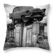 Carhenge Automobile Art 4 Throw Pillow