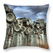 Carhenge Automobile Art Throw Pillow