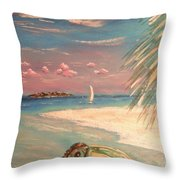 Caribbean Afternoon Throw Pillow by The Beach  Dreamer