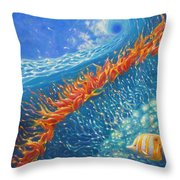 Caribbean Ballet Throw Pillow