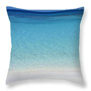 Caribbean Blues Throw Pillow