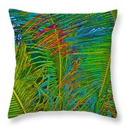 Caribbean Coconuts Throw Pillow