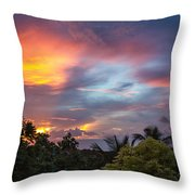 Caribbean Colors Throw Pillow