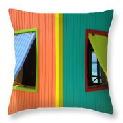 Caribbean Corner 4 Throw Pillow by Randall Weidner