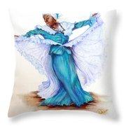 Caribbean Folk Dancer Throw Pillow