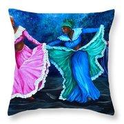 Caribbean Folk Dancers Throw Pillow