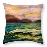 Islands And Wave Throw Pillow