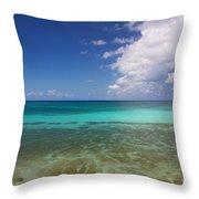 Caribbean Ocean Panorama Throw Pillow