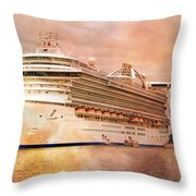 Caribbean Princess In A Different Light Throw Pillow by Betsy Knapp