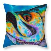 Caribbean Tarpon Fish Throw Pillow