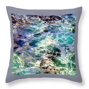 Caribbean Waters Throw Pillow