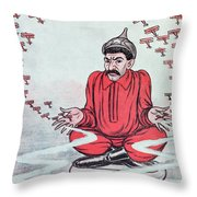 Caricature Of Stalin Throw Pillow