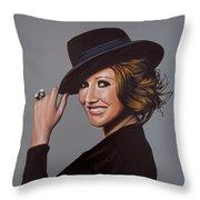Carice Van Houten Painting Throw Pillow