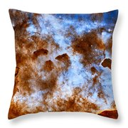 Carina Nebula-dust Pillars Throw Pillow