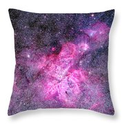Carina Nebula Panorama Throw Pillow