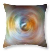 Carina Nebula Spin Art Throw Pillow
