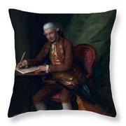 Carl Friedrich Abel, C.1777 Throw Pillow