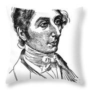 Carl Maria Von Weber (1786-1826) Throw Pillow