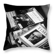 Carl Sandburg's Magazines  Throw Pillow