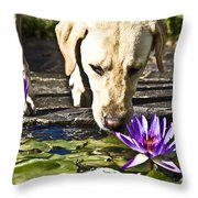 Carla's Dog Throw Pillow