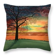 Carla's Sunrise Throw Pillow