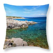 Carloforte Coastline Throw Pillow