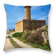 Carloforte Lighthouse Throw Pillow