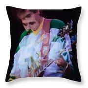 Carlos Santana At The Berkeley Greek Theater-september 13th 1980 Throw Pillow
