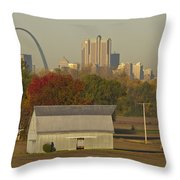 Carls Barn And The Arch Throw Pillow