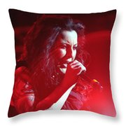 Carly And The Concert Lighting Throw Pillow