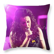 Carly On Stage Throw Pillow