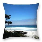 Carmel Beach California Usa Throw Pillow