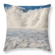 Carmel By The Sea California Beach Throw Pillow