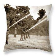 Carmel Fire Department California Circa 1930 Throw Pillow
